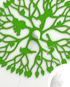 ornaments Animal Tree - wall and ceiling decoration