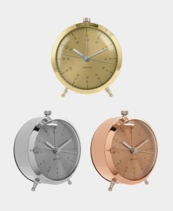 Karlsson alarm clock gold-copper-chrome