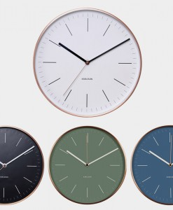 Karlsson wall clock copper minimal