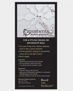 ornaments Modern geomteric- wall and ceiling decoration 2
