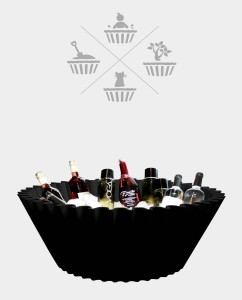 Sweet cake Black - ice bucket wine