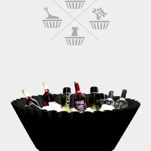 Sweet cake Black - ice bucket wine