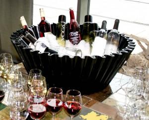Sweet cake bottles of wine cooler mood